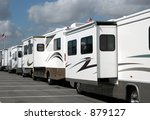 Motor Homes For Sale - stock photo