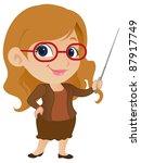 cute female teacher | Shutterstock .eps vector #87917749