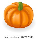 Illustration of a fresh tasty orange pumpkin - stock vector