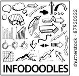 info doodles. vector hand drawn ... | Shutterstock .eps vector #87920332