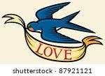 tattoo swallow | Shutterstock .eps vector #87921121