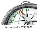 healthy life indicated by... | Shutterstock . vector #87922855