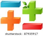 glossy maths symbols plus and... | Shutterstock . vector #87935917