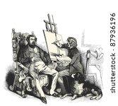 the painter  vintage engraved...   Shutterstock .eps vector #87936196