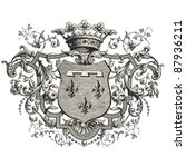 coat of arms  vintage engraved... | Shutterstock .eps vector #87936211