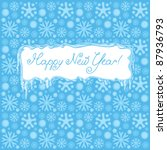 snowy background and happy new... | Shutterstock .eps vector #87936793