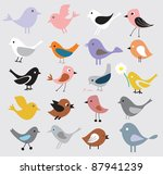 birds background | Shutterstock .eps vector #87941239