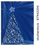 christmas tree   background | Shutterstock .eps vector #87943204