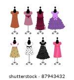 dresses  illustration | Shutterstock .eps vector #87943432