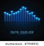 digital equalizer | Shutterstock .eps vector #87948931