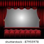 theater stage vector design | Shutterstock .eps vector #87955978