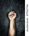protest fist | Shutterstock . vector #87965746