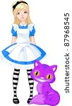 alice,art,artwork,beauty,blond,blue,cartoon,cat,cheshire,classic,clip,clip art,clip-art,cute,design