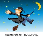 halloween image of a young... | Shutterstock . vector #87969796