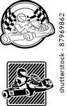 go cart karting racing race | Shutterstock .eps vector #87969862