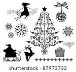 christmas elements | Shutterstock .eps vector #87973732