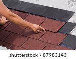 placement of asphalt shingles | Shutterstock . vector #87983143