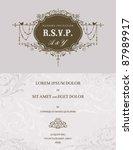 wedding invitation | Shutterstock .eps vector #87989917