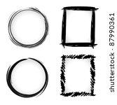 vector grunge ink brush border... | Shutterstock .eps vector #87990361