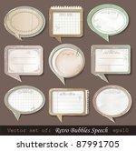 vector illustration of retro... | Shutterstock .eps vector #87991705