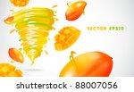mango with juicy twister   Shutterstock .eps vector #88007056