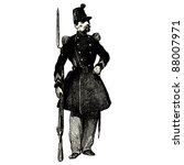 the soldier   vintage engraved...   Shutterstock .eps vector #88007971