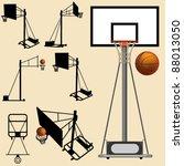 Vector Basketball Hoop And Ball ...