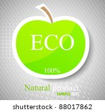 concept with green apple.... | Shutterstock .eps vector #88017862