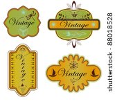 vector set vintage labels | Shutterstock .eps vector #88018528