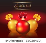 christmas card with red and... | Shutterstock .eps vector #88025410