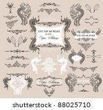 calligraphic design elements...   Shutterstock .eps vector #88025710