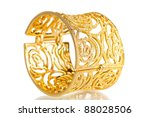 beautiful gold bracelet...   Shutterstock . vector #88028506