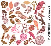 set of vector patch silhouettes | Shutterstock .eps vector #88031296