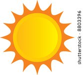 sun icon | Shutterstock .eps vector #8803396