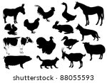farm animals | Shutterstock . vector #88055593
