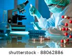 scientist working at the... | Shutterstock . vector #88062886