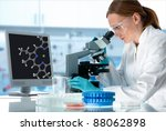 scientist working at the... | Shutterstock . vector #88062898