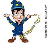 starry wizard   cartoon...   Shutterstock . vector #88065589