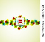 vector color squares abstract... | Shutterstock .eps vector #88067293