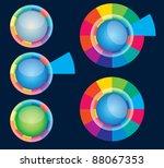 color web button | Shutterstock .eps vector #88067353