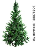 plain christmas tree | Shutterstock . vector #88075909
