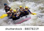group of five people whitewater ... | Shutterstock . vector #88078219
