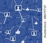 seamless social network | Shutterstock .eps vector #88079719