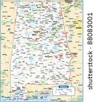alabama state map | Shutterstock .eps vector #88083001