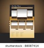 classy look restaurant website...   Shutterstock .eps vector #88087414