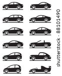 Stock vector different modern cars vector illustration 88101490