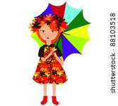 autumn girl   Shutterstock . vector #88103518