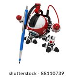 designer robot with mechanical... | Shutterstock . vector #88110739