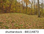 Ancient Indian burial mounds in Effigy Mounds National Monument, Marquette, Iowa
