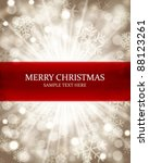 christmas background snowflakes ... | Shutterstock .eps vector #88123261